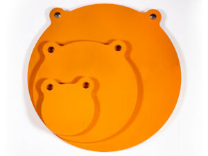 GlowShot 3 x AR500 Gongs and Self Healing Plate Hanger Combo