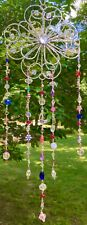 FLOWER SUNCATCHER-HEARTS,STARS, FLOWERS-CRYSTAL-HANDCRAFTED-3 DIMENSIONAL # 924