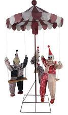 Halloween HAUNTING CIRCUS CLOWN GO-ROUND 6 FEET DOLLS Prop Haunted House NEW
