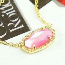 NWOT Kendra Scott Elisa Pink Blush Pearl Shell Necklace Gold Tone