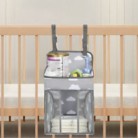 Baby Nursery Crib Bed Changing Diaper Hanging Holder Storage Bag Box Organize