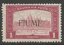 FIUME SG16 1918 1k LAKE MTD MINT
