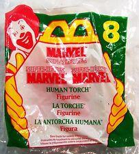 1996 McDonald's Happy Meal Super Heroes Marvel Human Torch Figurine MIP C10!