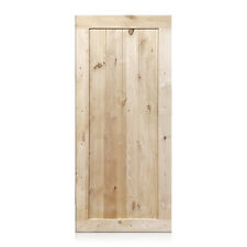 """Marco Design - Rustic Unfinished Knotty Alder Barn Door 36""""x80"""" (Free Shipping)"""