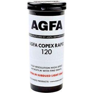 1 x Roll AGFA COPEX RAPID 50 FRESH B&W NEG Film--120 MED FORMAT--expiry: 08/2022