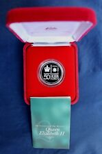 """2002 Australia Silver Proof 50c coin """"Golden Jubilee"""" in Case with COA   (G1/24)"""