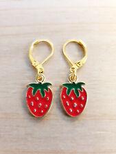 Kreatives Design Handwerk Erdbeer Ohrringe Damen Erdbeer