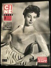 Ciné Revue 5/08/1955; Rita Gam/ Election Miss Univers/ Raf Vallone/ Gable-Spreck