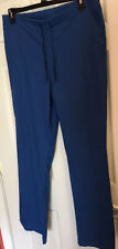 Life Uniform Royal Blue Scrub Pants Sz Large Tall Lt