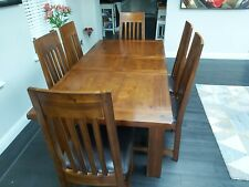 Solid wood table / Kember Extending Dining Table Large and 6 chairs
