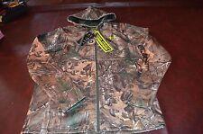 nwt $124 herren under armour cold gear scent control zipfelkapuze jacke camouflage mantel