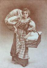 Camille Bellanger 1853-1923 La Blanchisseuse 1897 l'Estampe Moderne lithographie