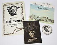 "Vintage Historic "" BULL TAVERN "" Hostelry of Colonial Charm Restaurant Menu"