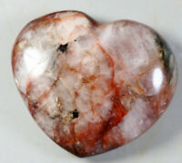Natural RED FIRE QUARTZ Hematoid Polished Crystal Reiki Heart Stone Healing