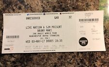 BRUNO MARS Ticket Stub -  Manchester Arena - 03 May 2017 - 24K Magic World Tour