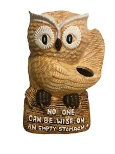 "Enesco No One Can be Wise on an Empty Stomach Owl Ornament 7"" Tall"