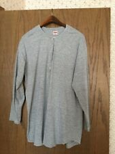 Women's Oilily Gray Cotton Long Sleeved T-Shirt W/Floral Embroidery Size XL