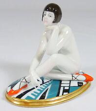 ENS VOLKSTEDT - Porzellanfigur ART DECO Figur erotischer Akt DAME - THÜRINGEN