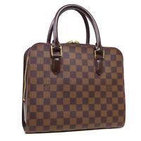 LOUIS VUITTON TRIANA HAND BAG VI0026 PURSE DAMIER CANVAS EBENE N51155 34118
