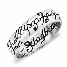 The One Ring Lord of the Rings Inspired Sterling Silver Ring - 8