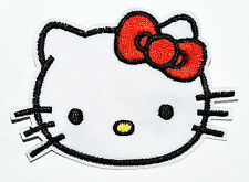embroidered Hello Kitty iron on patch applique Love Red Butterfly Tie #A