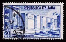 1952 ITALY #600 MILAN FAIR BUILDING - USED - F/VF - CV$22.50 (ESP#1468)