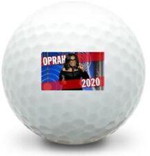 12 Brand New Oprah For President 2020 Logo) White Golf Balls in Sleeves