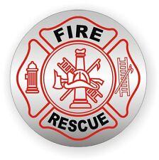 Fire Rescue Helmet Decal   Hard Hat Sticker Vinyl Label EMT AED CPR Firefighter