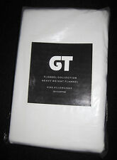 KING - GT - Cream TWO FLANNEL PILLOWCASES
