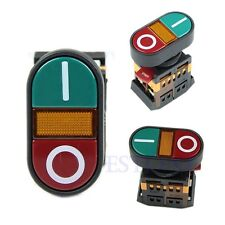 Red Green Light Indicator Momentary Switch Power ON OFF Start Stop Push Button