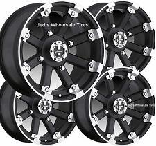 "4) 15"" Rims Wheels for 2005-2013 Suzuki King Quad 750 IE w IRS 393 MBML Aluminum"