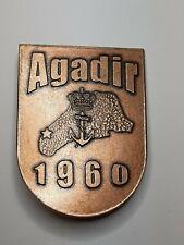 Netherlands Military Marine War AGADIR 1960 Badge Commemorative Dutch Rare