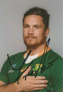 SOUTH AFRICA RUGBY: FRANCOIS LOUW SIGNED 6x4 WORLD CUP PORTRAIT PHOTO+COA*PROOF*