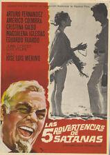Programa de CINE. Título película: LAS CINCO ADVERTENCIAS DE SATANÁS.