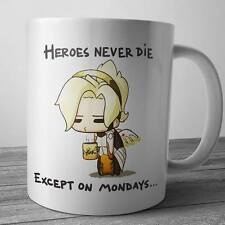 Heroes Never Die Funny Coffee Mug, Tee Cup, Gifts For Overwatch Fans and Lovers