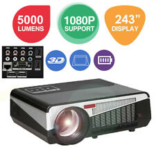 """86+ 5000LM Full HD LED LCD 3D Wireless Smart Projector  60-150"""" for Laptop Phone"""