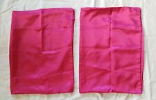 Hot Pink 100% Polyester Satin Standard Pillow Case Pair - Vintage