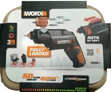 Worx SD Slide Driver Cordless 4V Screwdriver Auto Bit Shift Li-Ion WX254.1 new