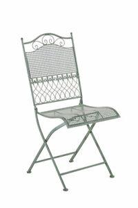 #R44928/1106 Stuhl Kiran antik-grün Klappstuhl Gartenstuhl Eisenstuhl Metall