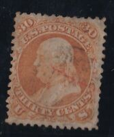 US Stamps Scott#71 Franklin used on Perfs CV$1000.00
