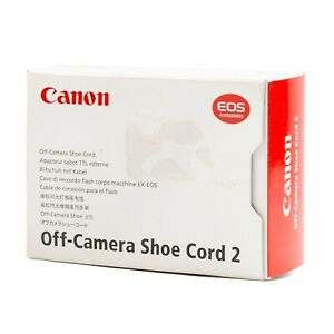 Canon EOS Off-Camera Shoe Cord 2 CZ6-2359 Hot Shoe Wired TTL Genuine New Opened