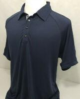 Adidas Golf ClimaCool Short Sleeve Performance Striped Polo Shirt Mens L
