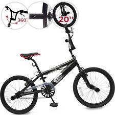 BMX Vélo 20 pouces Guidont Pivotant à 360° Freestyle Enfant Garçons et Filles