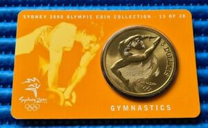 Sydney 2000 Olympic Coin Collection 13 of 28 Gymnastics Commemorative $5 Coin
