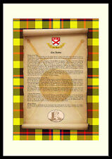 CLAN JARDINE -Clan History, Tartan, Crest, Castle & Motto MOUNTED PRESENTATION