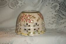 """Homco Floral Candle Lamp Shade """"Wildflower Romance"""" Multi Colors"""