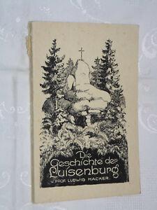 DIE GESCHICHTE DER LUISENBURG,Heimatbuch,Heimat,Fichtelgebirge,Luisenburg