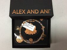 Alex and Ani Brilliance Wrap Fiery Glow Bangle Bracelet Rafaelian Gold NWTBC