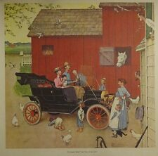 Norman Rockwell 20x20 Model T Boss Of The Road Poster