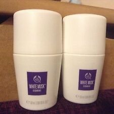 New style bottle body shop 2 X white musk roll on deodorant 2 X 50ml .